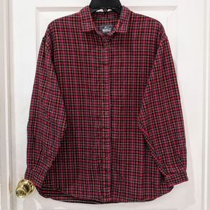 Vintage Woolrich Red Plaid Flannel Long Sleeve Top